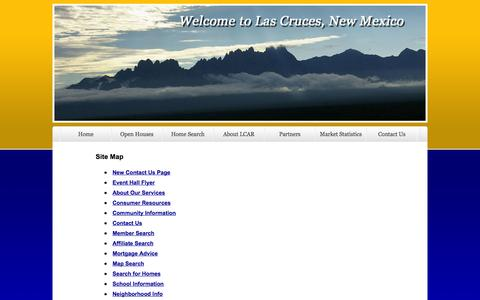 Screenshot of Site Map Page lcar.biz - Las Cruces Association of Realtors® ~ Las Cruces, NM - captured Oct. 2, 2014