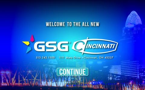 Screenshot of Home Page cincinnatisignsupplies.com - Welcome to GSG - Cincinnati - captured Nov. 6, 2016