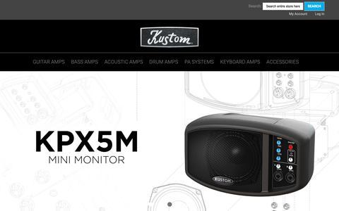 Screenshot of Home Page kustom.com - Home page - captured Oct. 16, 2018
