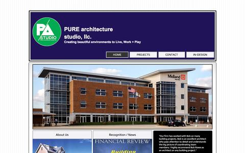 Screenshot of Home Page pure-arch.com - Pure Architecture Studio LLC - captured Feb. 14, 2018