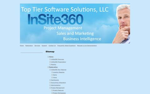 Screenshot of Site Map Page toptiersoftwaresolutions.com - Top Tier Software Solutions - Home - captured Oct. 27, 2017