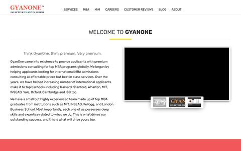 Screenshot of About Page gyanone.com - About us - Gyanone - captured July 8, 2019