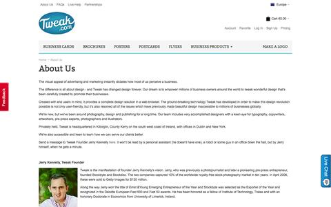 Screenshot of About Page tweak.com - About Us - captured Sept. 19, 2014