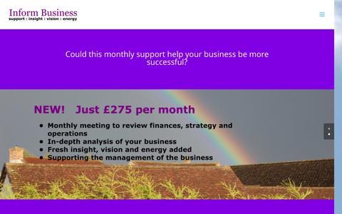 Screenshot of Support Page informbusiness.co.uk - Monthly support | Inform Business - captured Nov. 26, 2016