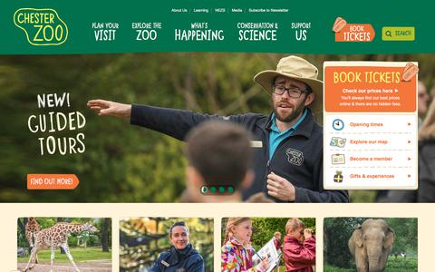 Screenshot of Home Page chesterzoo.org - Visit Chester Zoo - captured Aug. 3, 2017