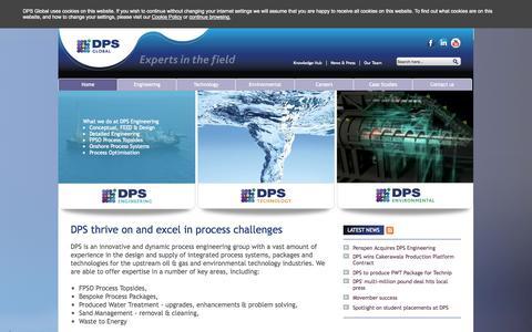 Screenshot of Home Page dps-global.com - Home - DPS Global - captured Oct. 5, 2014