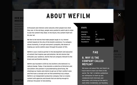 Screenshot of About Page wefilm.nl - About Wefilm — Wefilm - captured Jan. 10, 2016