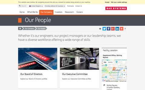 Screenshot of Team Page baesystems.com - Our People | BAE Systems | United Kingdom - captured July 14, 2018