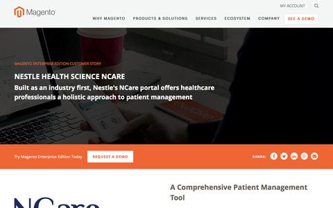 Screenshot of Case Studies Page magento.com - Nestle Health Science Ncare | Magento - captured March 9, 2017