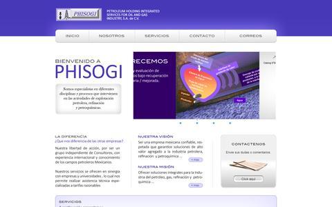 Screenshot of Home Page phisogi.com.mx - PHISOGI - captured Oct. 2, 2014