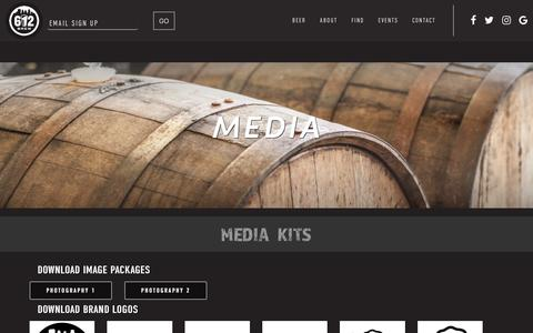 Screenshot of Press Page 612brew.com - Media   612BREW - captured Sept. 21, 2018