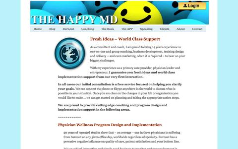 Screenshot of Services Page thehappymd.com - Services - captured April 22, 2016