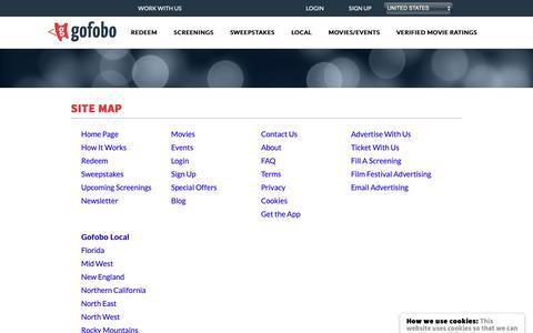 Screenshot of Site Map Page gofobo.com - Site Map - captured Nov. 7, 2018