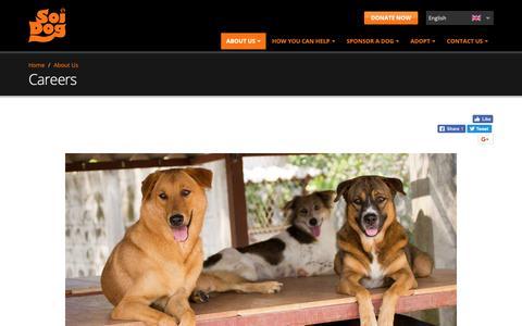 Screenshot of Jobs Page soidog.org - Careers   Soi Dog Foundation - captured Oct. 1, 2018