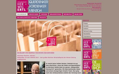 Screenshot of Home Page herwig-ertl.at - Edelgreißler - Herwig Ertl - captured June 7, 2016