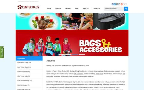 Screenshot of Home Page china-backpack-bag.com - Kids Backpacks, Back Pack Manufacturer - Kids Backpacks - captured Oct. 10, 2016