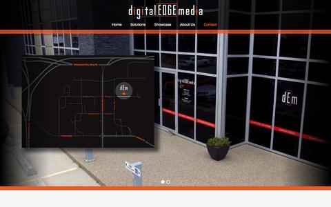 Screenshot of Contact Page digitaledgemedia.ca - Contact »  digitalEDGEmedia » Edmonton, Alberta, Canada - captured Sept. 25, 2016