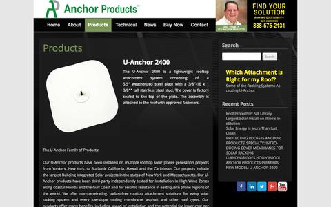 Screenshot of Products Page anchorp.com - Products - Anchor Products - captured Oct. 4, 2014