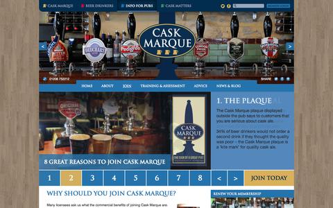 Screenshot of Signup Page cask-marque.co.uk - Join - Info For Pubs - captured July 3, 2015