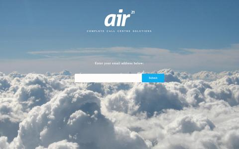 Screenshot of Home Page air21group.co.uk - Air21 Group - Complete Call Centre Solutions - captured May 29, 2017