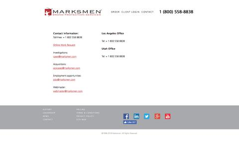 Screenshot of Contact Page marksmen.com - Contact | Marksmen - captured Jan. 17, 2018