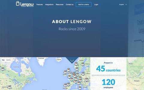 Screenshot of About Page lengow.com - About Lengow - captured Jan. 28, 2016