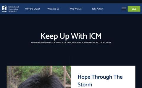 Screenshot of Blog icm.org - Blog - ICM - captured Oct. 12, 2018