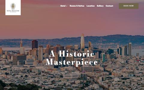 Screenshot of Home Page hotelwhitcomb.com - San Francisco Hotels | Hotel Whitcomb in San Francisco - captured Nov. 5, 2018