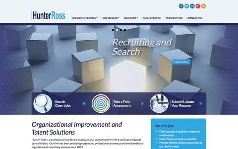 Screenshot of Home Page hunterross.com - Home - captured Jan. 23, 2015