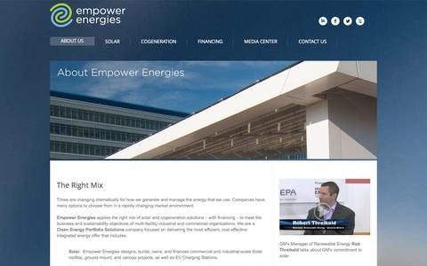 Screenshot of About Page empowerenergies.com - Empower Energies, Inc. - captured Sept. 12, 2014