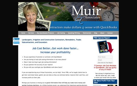 Screenshot of Home Page muirassoc.com - QuickBooks Landscaping Lawn Care Irrigation Job Costing Frederick MD Home - captured Oct. 18, 2018