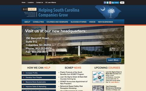 Screenshot of Home Page scmep.org - Helping South Carolina Manufacturing Companies Grow - captured Dec. 16, 2015