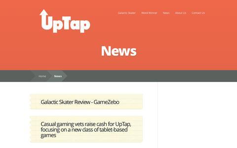 Screenshot of Press Page uptap.com - News | UpTap - captured Oct. 27, 2014