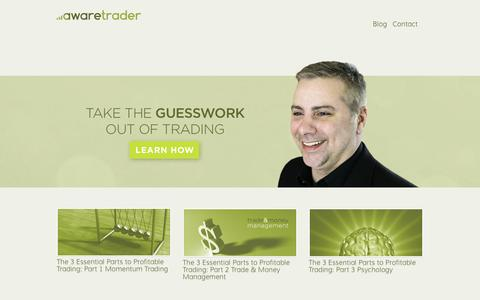 Screenshot of Home Page awaretrader.co - awaretrader - captured July 27, 2016
