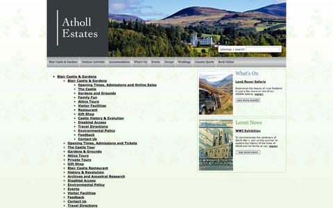 Screenshot of Site Map Page atholl-estates.co.uk - Atholl Estates - captured Sept. 30, 2014