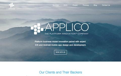 Screenshot of Home Page applicoinc.com - Mobile App Design & Development Company | NYC & LA - captured Oct. 26, 2015