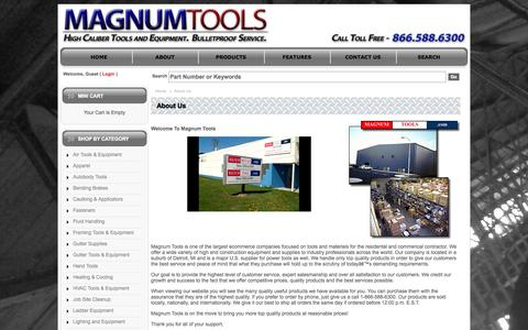 Screenshot of About Page magnumtools.com - Magnum Tools  - - captured Sept. 30, 2014