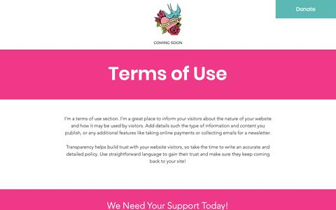 Screenshot of Terms Page voxyladies.com - Voxy Ladies | Terms of Use - captured Oct. 20, 2018