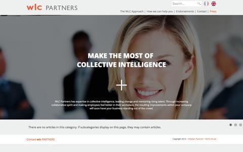 Screenshot of Press Page wlc-partners.com - Press - captured Aug. 11, 2016