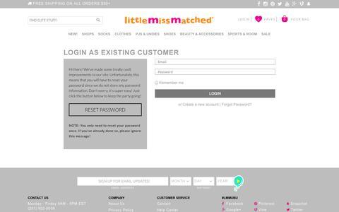 Screenshot of Login Page littlemissmatched.com - Login - captured Oct. 30, 2014