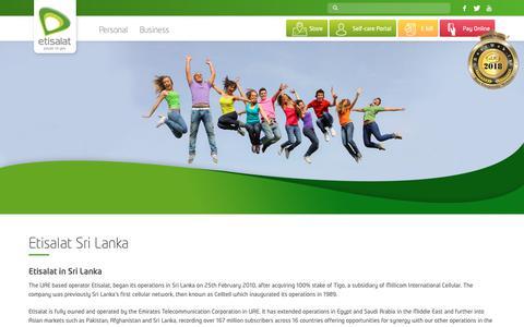 Screenshot of About Page etisalat.lk - About Us – Etisalat Sri Lanka - captured Sept. 29, 2018