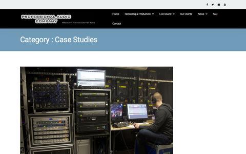 Screenshot of Case Studies Page professionalaudiocompany.co.uk - Case Studies |  Professional Audio Company - captured Dec. 12, 2015