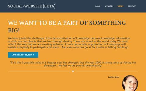 Screenshot of About Page social-website.org - social-website Social Business - captured Oct. 26, 2014