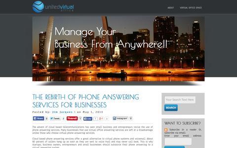 Screenshot of Blog unitedvirtualoffice.com - United Virtual Office - captured Oct. 7, 2014