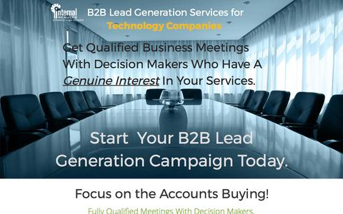 Screenshot of Landing Page internalresults.com - B2B Lead Generation For Technology Companies - captured March 24, 2017