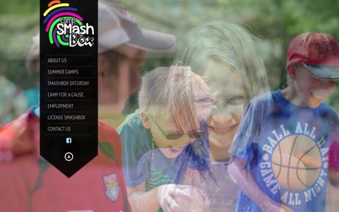 Screenshot of Home Page campsmashbox.com - Camp SMashBox | as unique as you are - captured Dec. 14, 2015