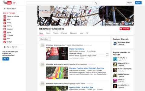 Screenshot of YouTube Page youtube.com - WhiteWater Attractions  - YouTube - captured Oct. 29, 2014