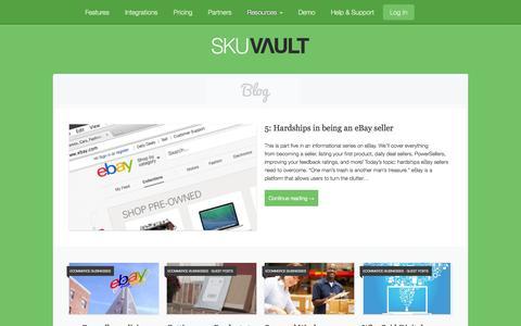 Screenshot of Blog skuvault.com - SkuVault eCommerce Blog - - captured Sept. 24, 2014