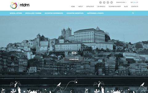 Screenshot of Site Map Page ntdm.pt - Sitemap - NTDM Specialized Tourism - captured Nov. 3, 2014