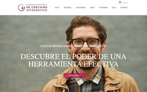 Screenshot of Home Page ficoaching.org - Coaching | Fundación Internacional de Coaching Integrativo - captured Oct. 10, 2018